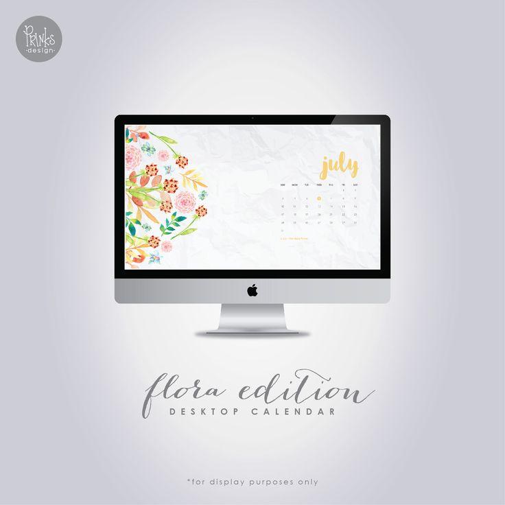 how to put calender on desktop of mac