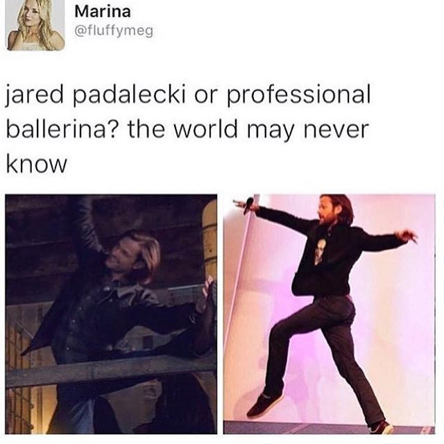 I can't tell the difference honestly he's just so graceful