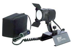 Smith Victor Model 280BK 100-watt quartz DC video light kit w/ battery & XLR charger (701621)
