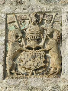 One of the Crests on the South Wall, Castle Fraser, Scotland