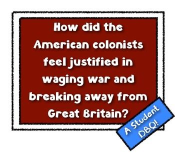 "dbq were the colonists justified in waging Free essay: ""were the american colonists justified in waging war and breaking  away from britain"" the colonists  essay on dbq causes of revolutionary war."