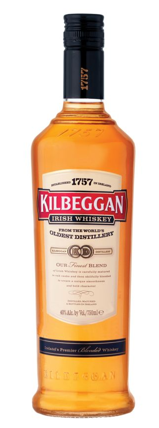 Kilbeggan Irish Whiskey - The Kilbeggan distillery is one of the oldest distilleries in Ireland, and fairly recently (2007) celebrated it's 250th birthday with a return to whiskey production, after a 50 year hiatus. (Via boozenik.com)
