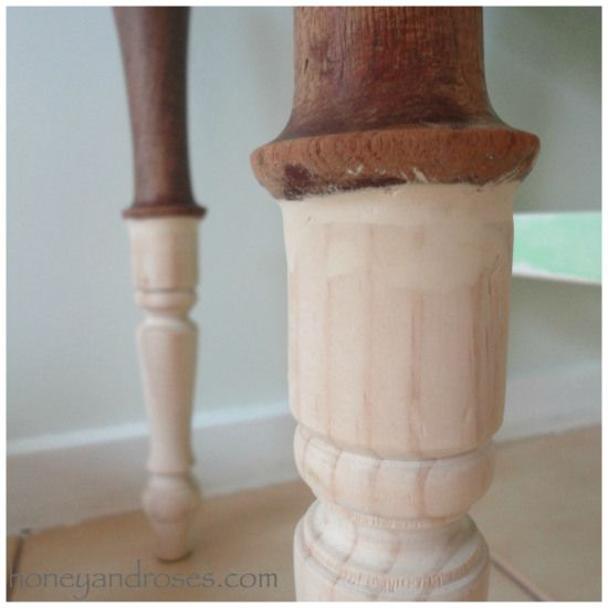 Honeyandroses How To Make A Table Taller By Adding Legs Furniture Repair