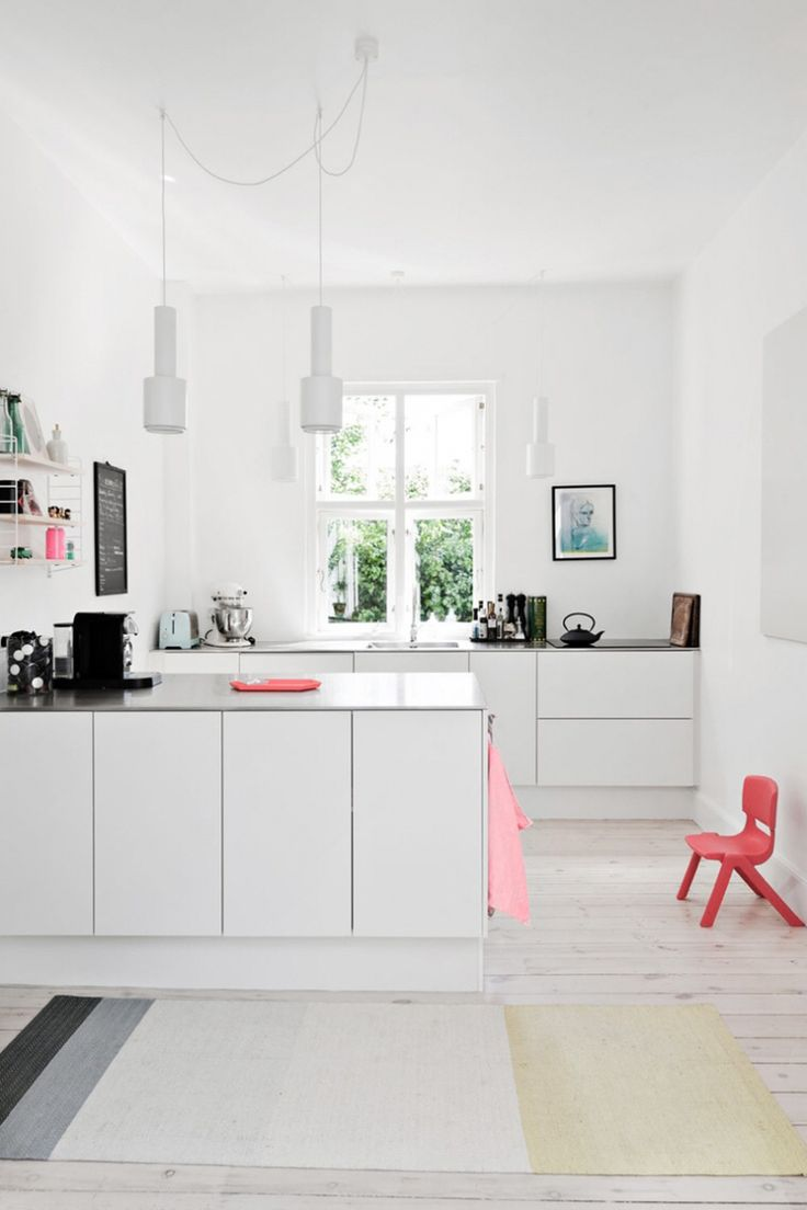 A white kitchen in Copenhagen