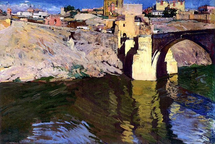 San Martin Bridge at Toledo / Joaquin Sorolla y Bastida - 1906