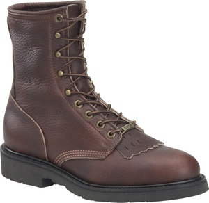 Men's Double H Boot 8 Inch Work Lacer - Walnut