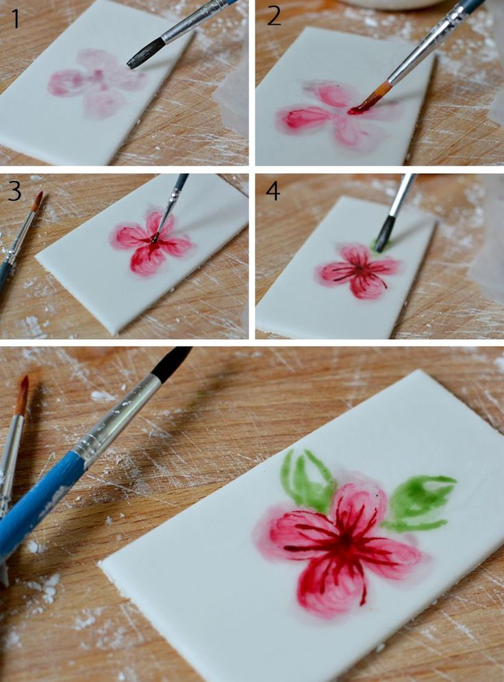 Fondant Cake Decorating Step By Step : Best 25+ Cake Painting Tutorial ideas on Pinterest ...