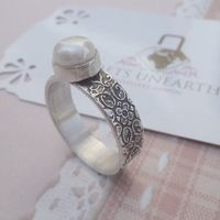 pearl ring - beautifully handcrafted
