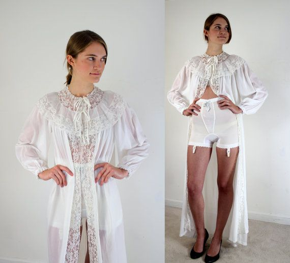 1950s Radcliffe Dressing Gown With Girdle Of Course