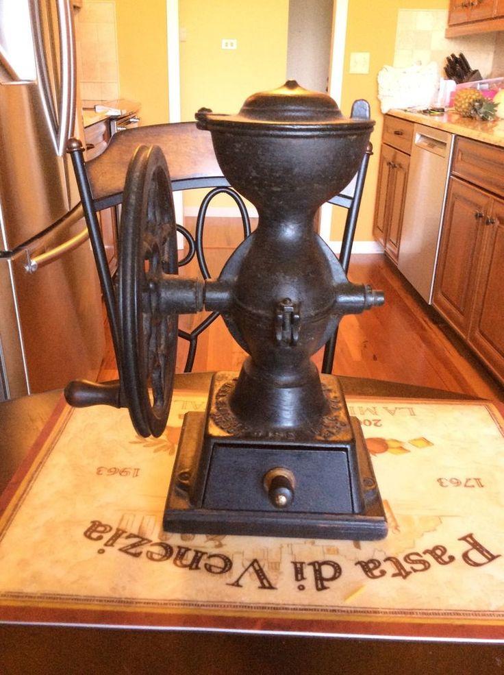 Antique Enterprise No 1 Cast Iron Coffee Grinder Mill 12 1