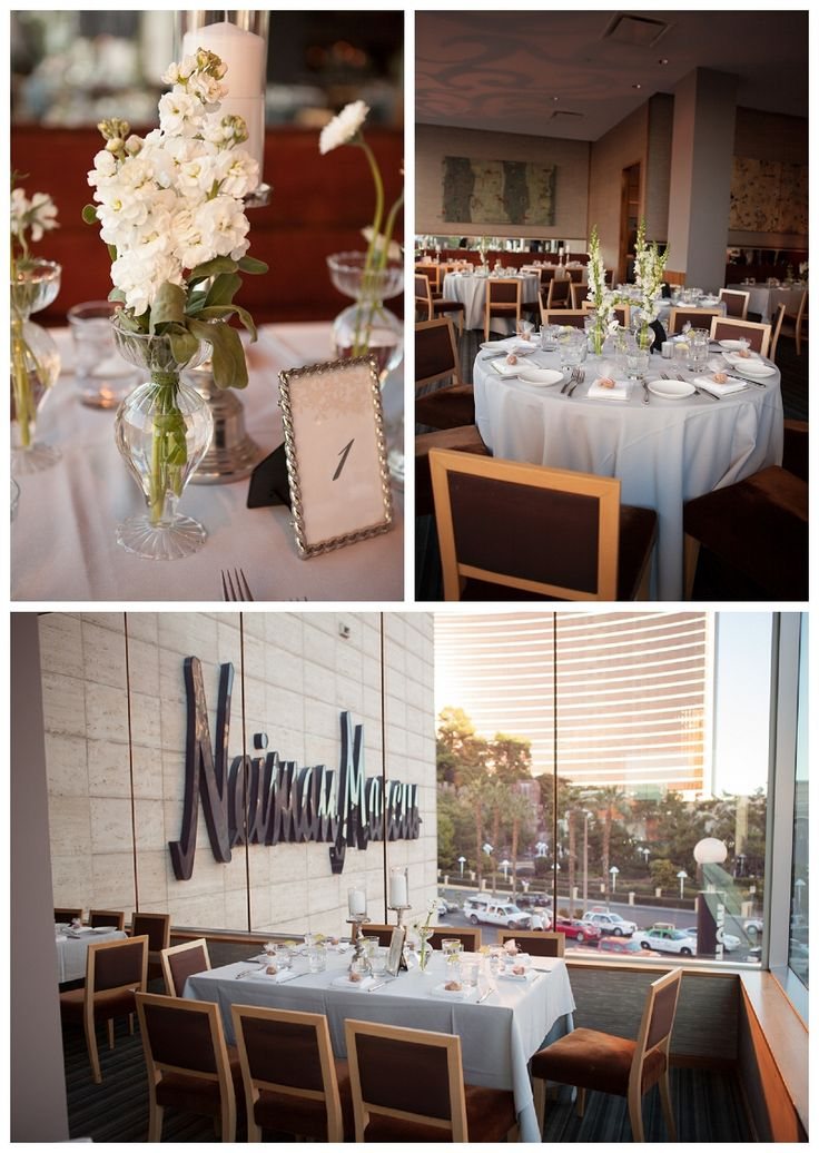 wedding locations in southern californiinexpensive%0A All white wedding reception at Vintner Grill Las Vegas Strip   Planner   Green Orchid Events