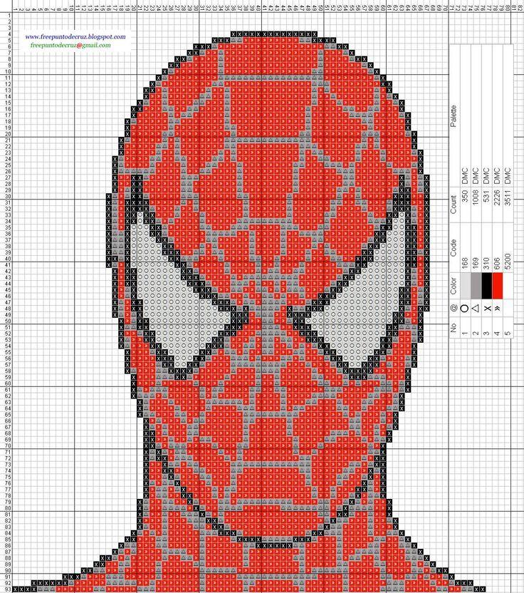 Spiderman point de croix cross stitch