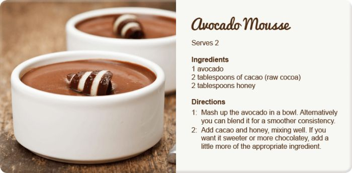 How to Get Your #Kids Eating More #Veggies: For dessert, something like #avocado #chocolate mousse is delicious, yet #healthy, and will give your child a multitude of much needed vitamins and good fats.