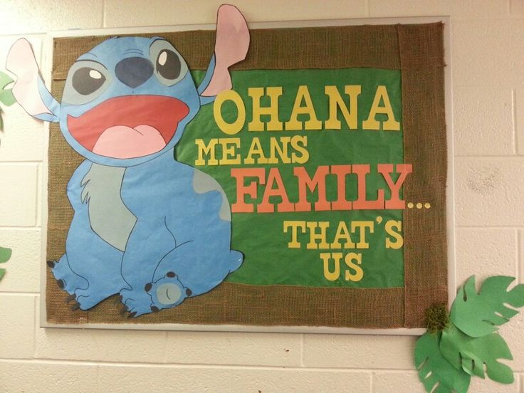 Bulletin Board Ra Lilo And Stitch Ra Door Tags And