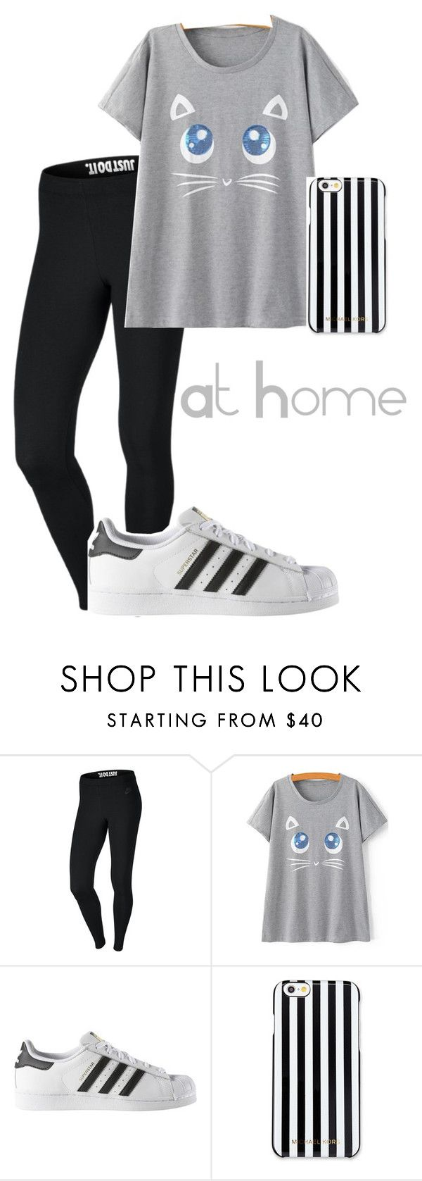 #156 by potato-cupcake on Polyvore featuring NIKE, adidas and MICHAEL Michael Kors