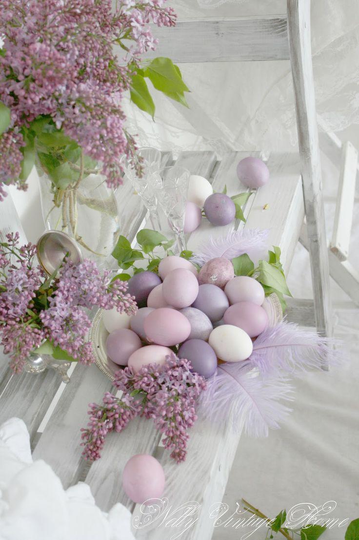 nelly vintage home: Великден в люляково - AMAZING design images!  Love the eggs!