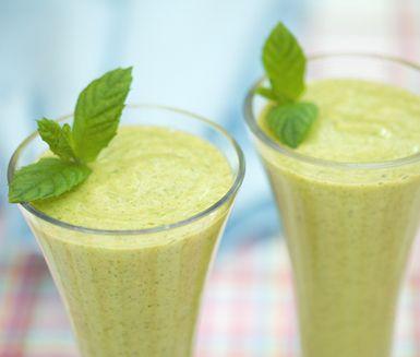 Recept: Exotisk smoothie med mynta
