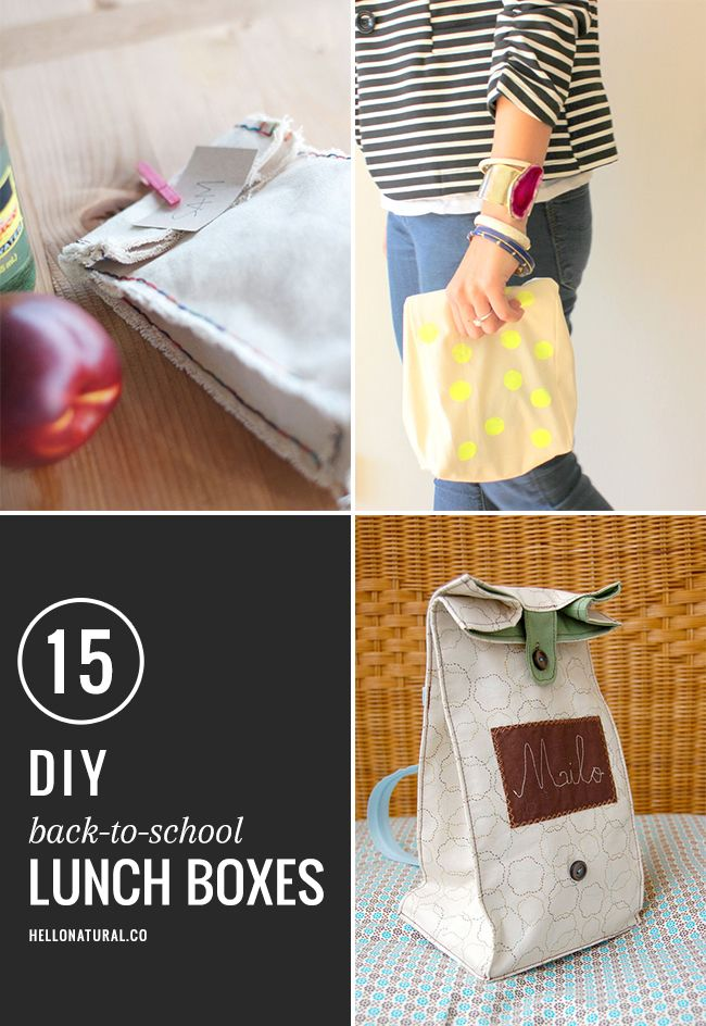 15 Best DIY Lunch Boxes for back to school. Do it yourself amazing, is more like it.