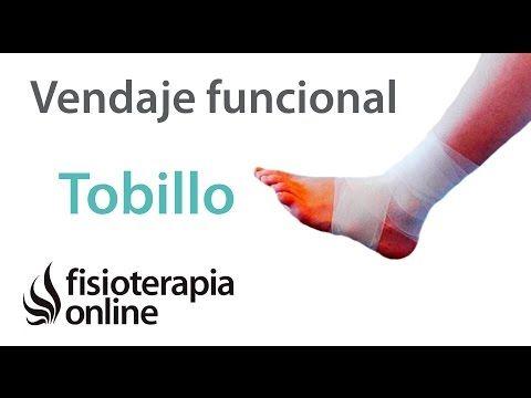 Vendaje funcional para esguince o torcedura de tobillo. - YouTube