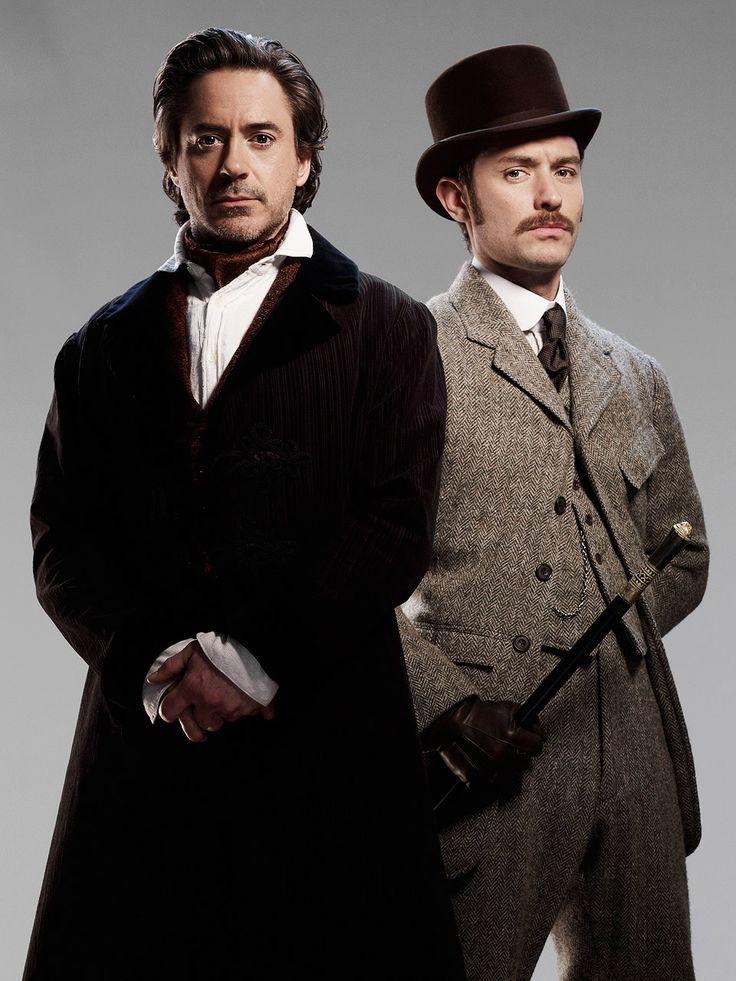 Robert Downey Jr. & Jude Law as Sherlock Holmes & Dr. Watson
