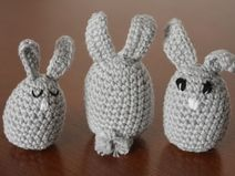 crochet bunnies with cute tails
