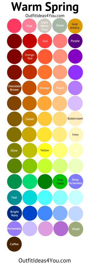 Shaded Spring Color Palette (Warm Spring)