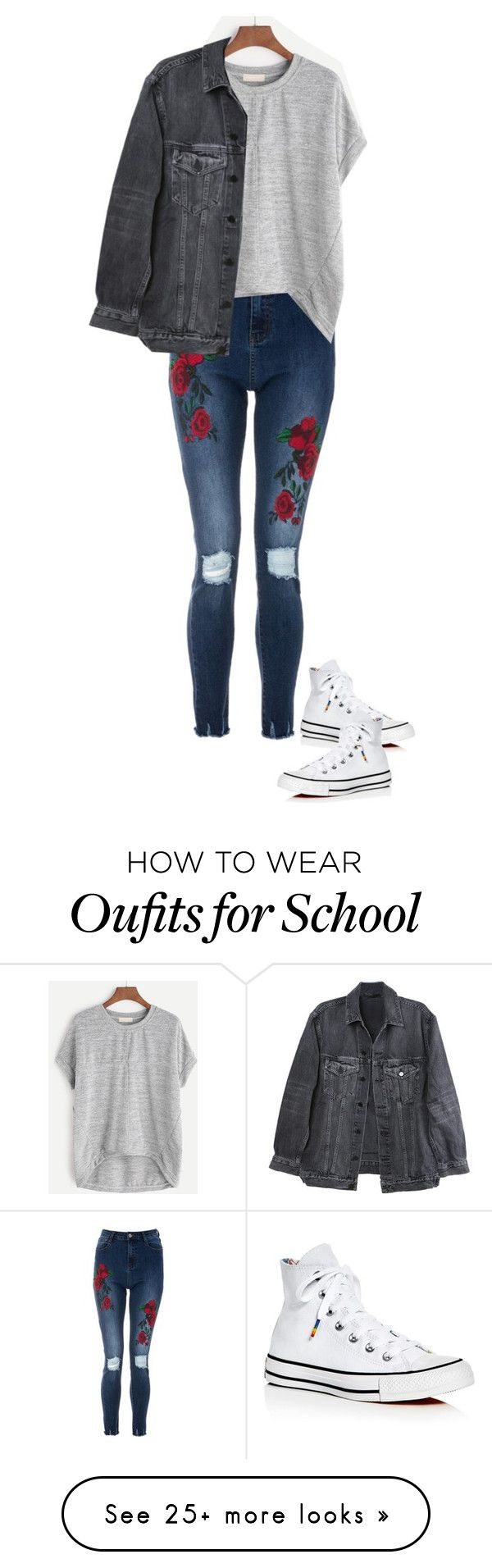 """School Series '17 #7"" by alyroxmaxxx on Polyvore featuring Y/Project, Converse and BackToSchool"