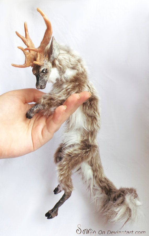 Nostaw the Fawnling OOAK Posable Art Doll - this is totally insane, but I want it.