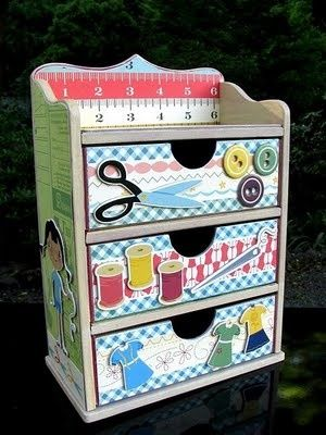 Mini Sewing Room Sewing cabinet