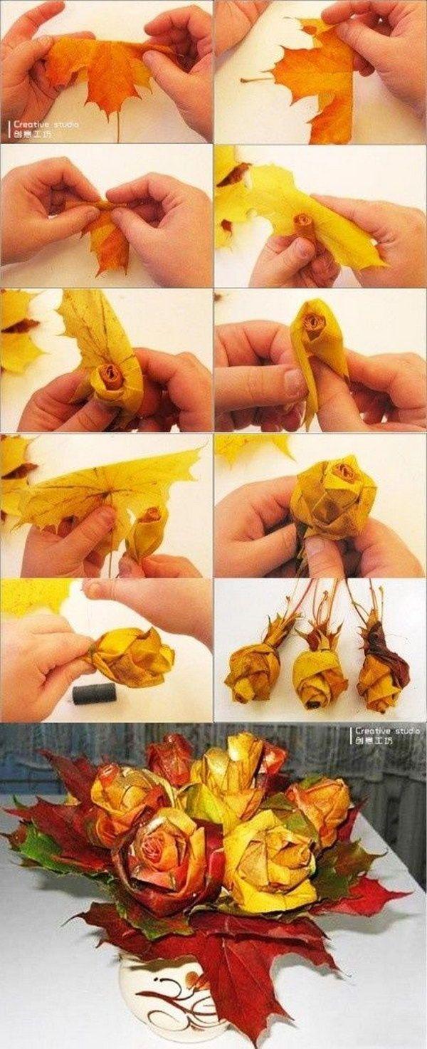 26 DIY Fall Leaf Craft Ideas and Tutorials
