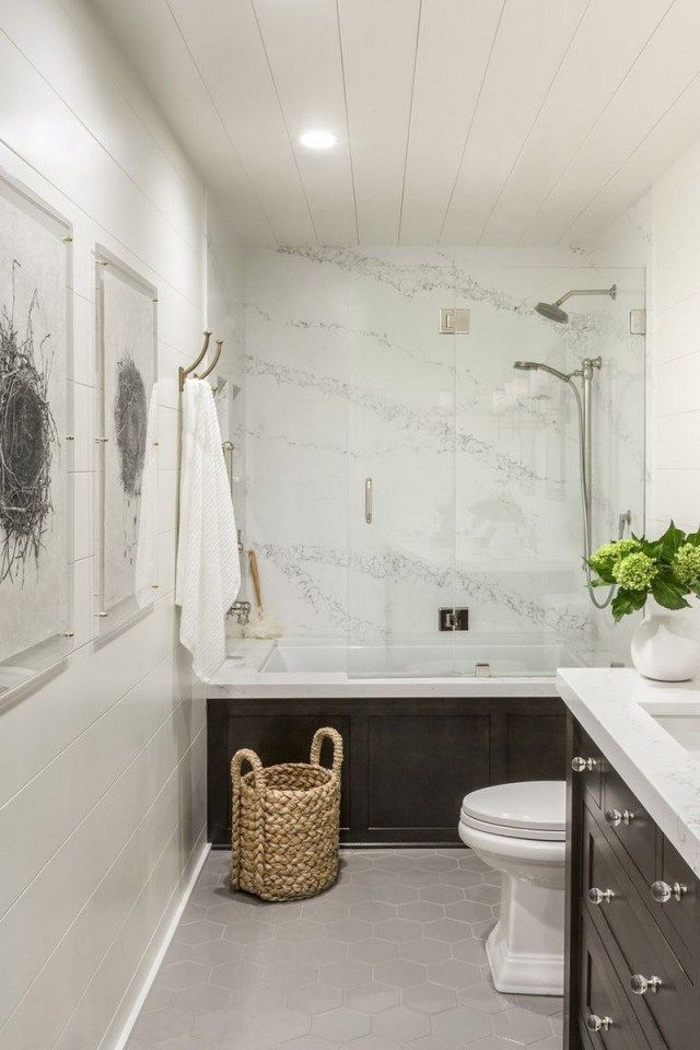33 Best Hallway Bathroom Design Ideas If Your Bathroom Is Short On Space And You Want Some Guest Bathroom Small Guest Bathroom Design Small Basement Bathroom