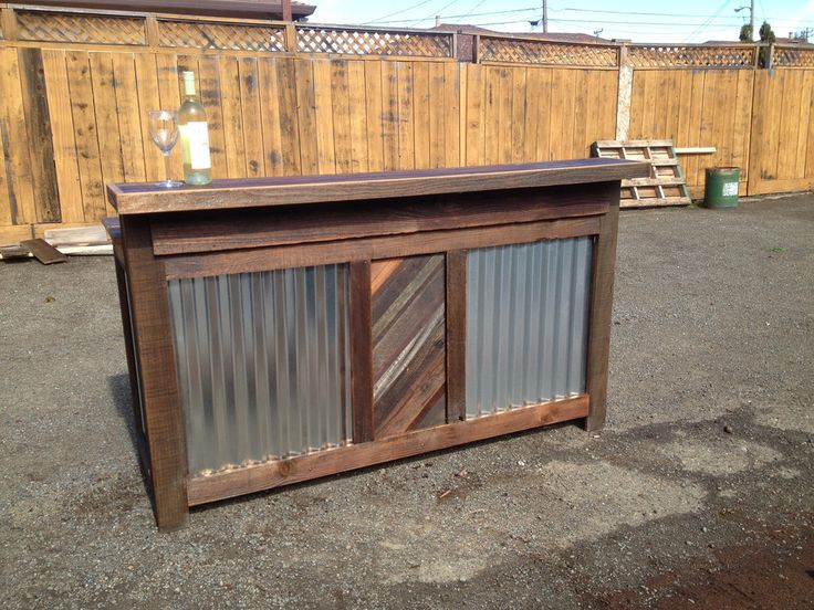 470 best images about outdoor bars and counter tops on for Diy wood bar