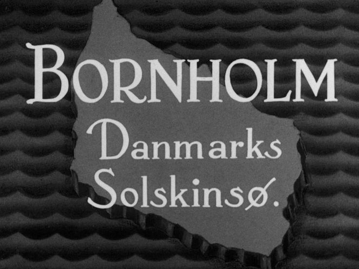Bornholm - Danmarks Solskinsø  (1938)| Filmcentralen / streaming af danske kortfilm og dokumentarfilm