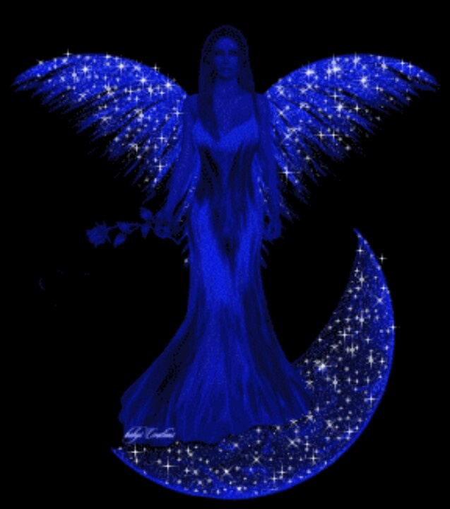"Angels come in diff colors this 1 is ""blue"""