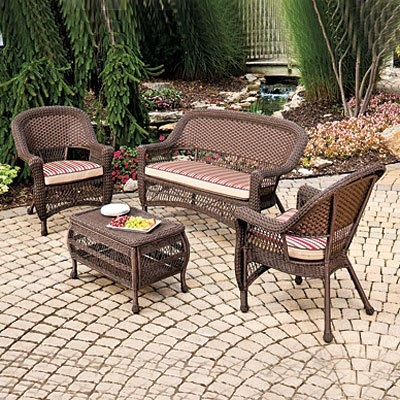 17 best images about outdoor patio furniture sets on for Big lots chaise lounge cushions