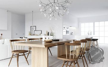 Modern Dining Room Design with Moooi Heracleum Lamp from Stardust modern dining room