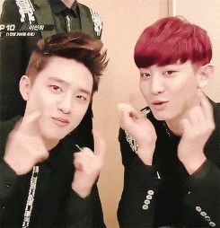 MC: who can do it better than Kai? Chanyeol: *looks at D.O* We can. the result..