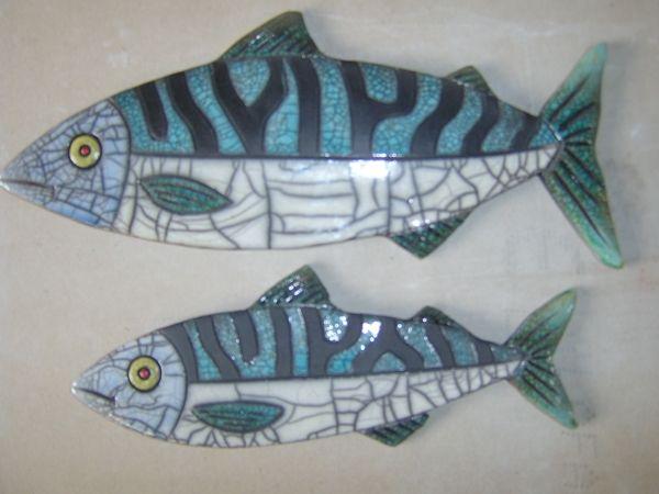 – Julian Smith – Gesellschaft der Korkenzieher   – Keramik Fische