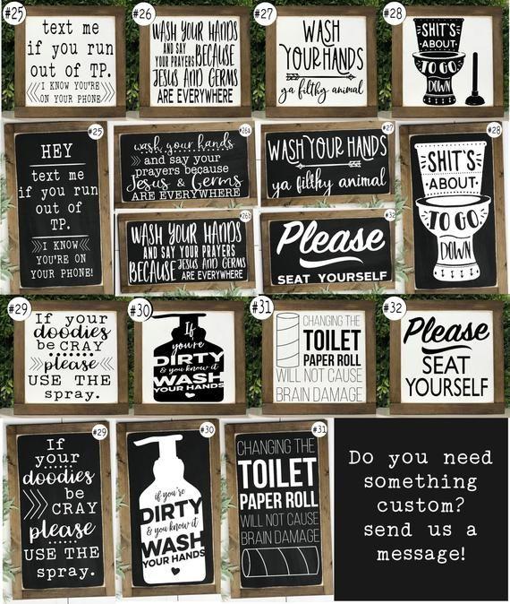 Funny Bathroom Signs Bathroom Wall Decor Kids Bathroom Etsy Funny Bathroom Signs Bathroom Humor Bathroom Signs