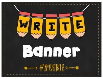 This WRITE Pencil Banner is great for adding a little decor to a writing center or bulletin board show casing your students' writing!This product includes 3 different sizes of the WRITE Pencil Banner.  Simply choose your size and print.  You can string the pieces together or put them up on a bulletin board.Enjoy this Freebie!