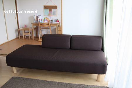 無印のソファベッド♪ | delicious record - 楽天ブログ いつか、お気にいりのソファをお迎えするまでのつなぎのつもりだったけど