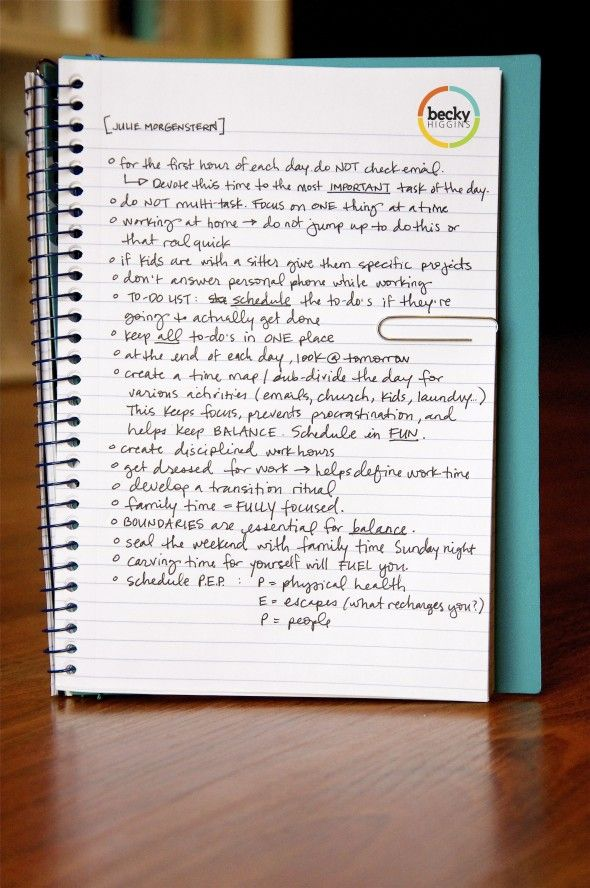 Time Management Tips for Working From Home...these are great!