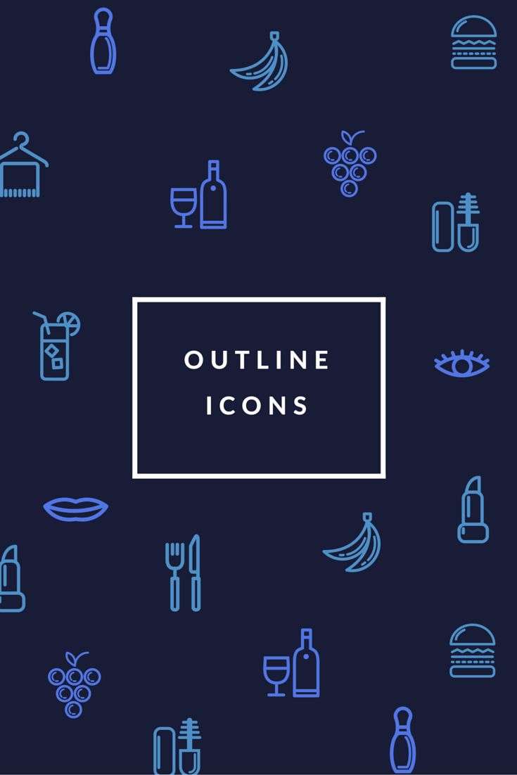 Grab em' all and make patterns, blog buttons, logos, etc in your next Canva design! 60 Free Outline Icon Sets Perfect for Contemporary Designs