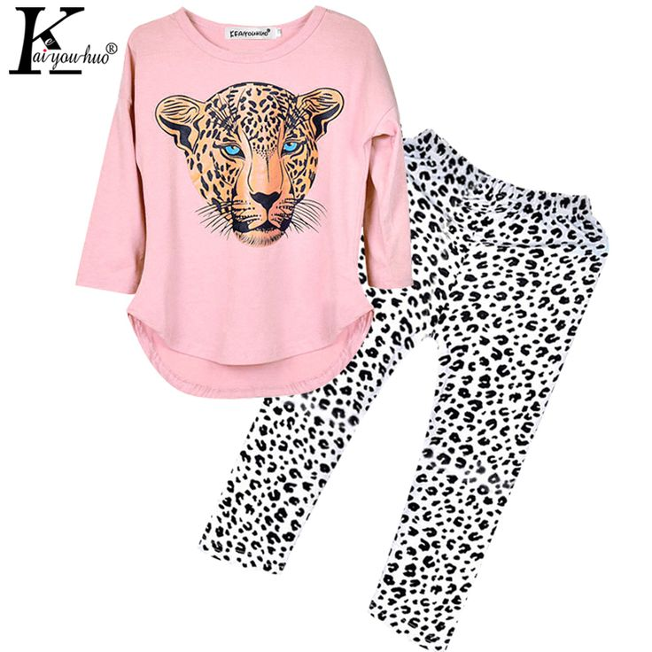 Children Clothing Tracksuit For Girls Clothes Sets Leopard Outfit Suit Kids Clothes For Girls Sport Suit Brand Costume For Girls