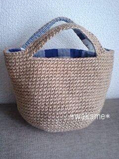 麻ひもバッグの作り方|編み物|編み物・手芸・ソーイング | アトリエ|手芸レシピ16,000件!みんなで作る手芸やハンドメイド作品、雑貨の作り方ポータル