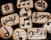 Articoli simili a Cookies di note musicali musica biscotto favori, biscotti compleanno, cookie personalizzati, biscotti di zucchero decorate, biscotti gourmet, biscotti laurea su Etsy