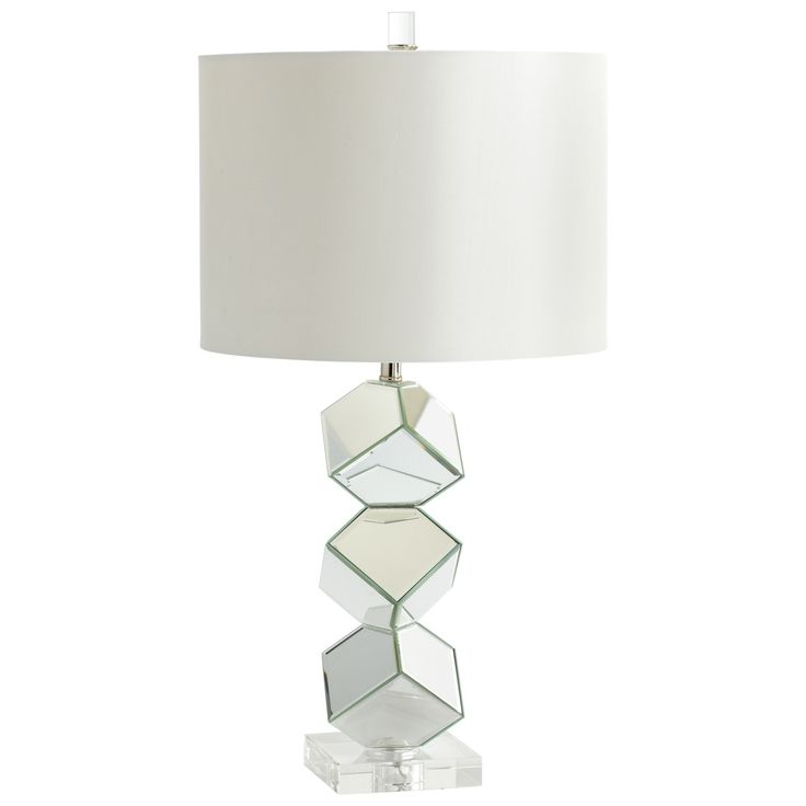 Cyan design 05903 illusion table lamp in mirrored glass