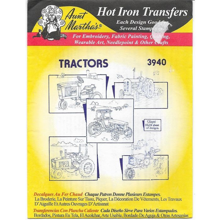Aunt Martha's Hot Iron Transfers 3940 Tractors 5 pieces of Artwork Uncut Listing in the Fabric Transfers,Fabric Painting & Decorating,Crafts, Handmade & Sewing Category on eBid Canada | 167301616 CAN$ 7.00 + shipping