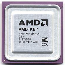 El K6 era un microprocesador lanzado en 1997 por AMD. Fue diseñado para funcionar en placas base socket 7, compatibles con las que usaban los procesadores Pentium de Intel.