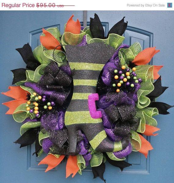 98 best halloween deco mesh wreaths halloween craft for Craft wreaths for sale